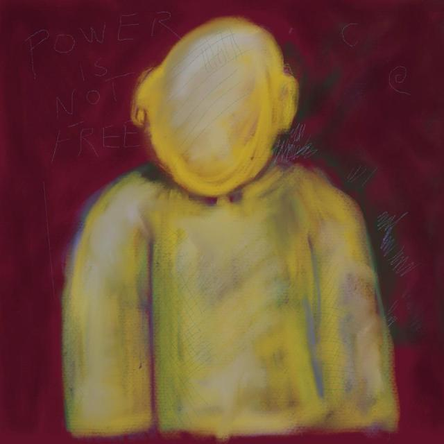 faceless person abstract